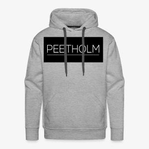 Peetholm - Black logo - Herre Premium hættetrøje