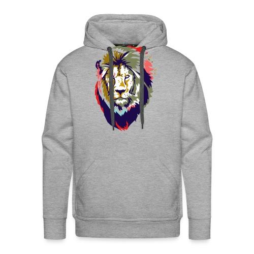 Farbiger Löwe - Männer Premium Hoodie
