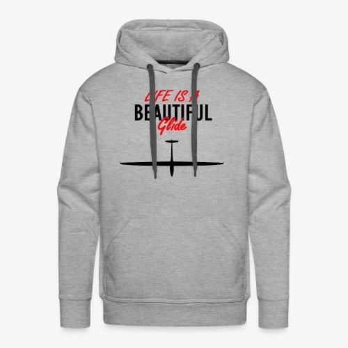 Life is a beautiful glide - Sweat-shirt à capuche Premium pour hommes