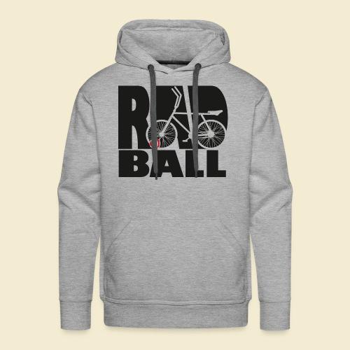 Radball | Typo Black - Männer Premium Hoodie