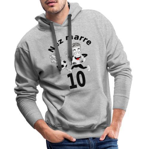 Nez marre football humour FC - Sweat-shirt à capuche Premium pour hommes