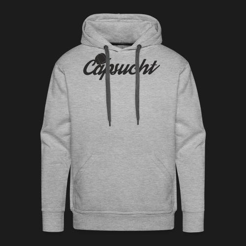 capsucht logo schwarz - Männer Premium Hoodie
