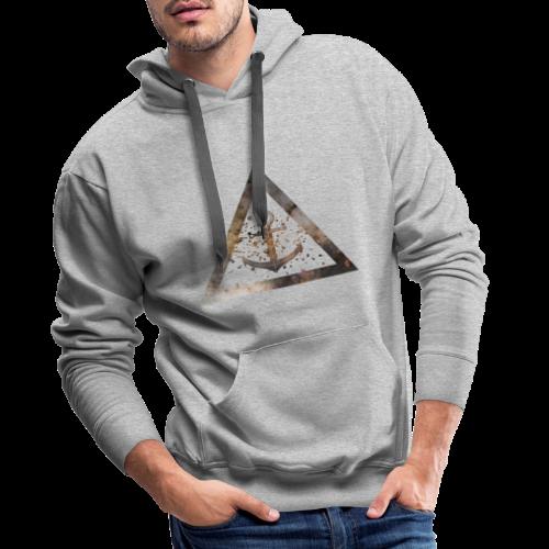 Galaxy Anchor Geometry Triangle - Männer Premium Hoodie