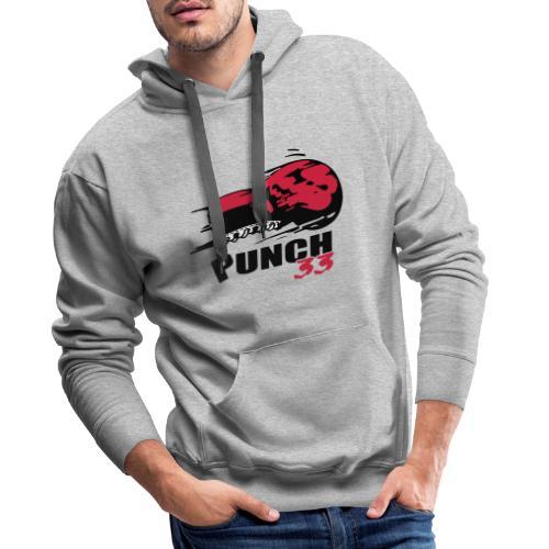 logo punch 33 - Sweat-shirt à capuche Premium pour hommes