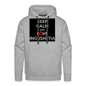 keep calm and love ingushetia - Sweat-shirt à capuche Premium pour hommes
