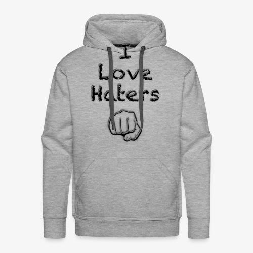 I Love Haters - Männer Premium Hoodie