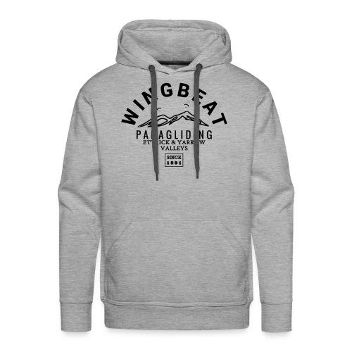 wingbeat logo - big - on back - in white - Men's Premium Hoodie