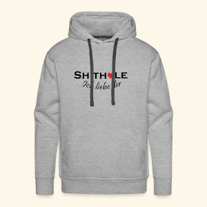 Shithole ick liebe dir - Shithole Berlin Edition - Männer Premium Hoodie