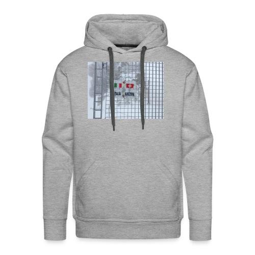 frontière italie suisse - Sweat-shirt à capuche Premium pour hommes