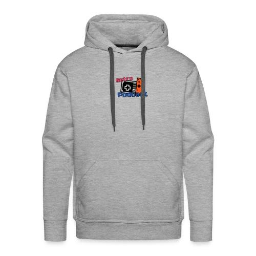 Retro Podcast Logoen - Premium hettegenser for menn