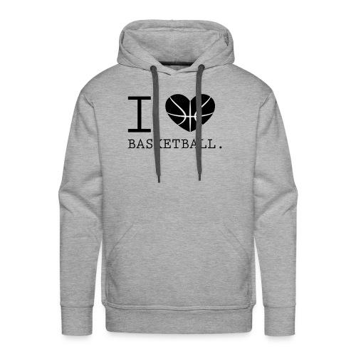 I love Basketball-Shirt T-Shirt Geschenk - Männer Premium Hoodie