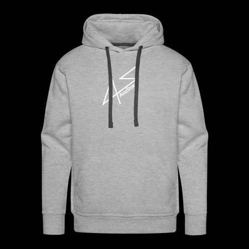 Logo Blanc - Sweat-shirt à capuche Premium pour hommes