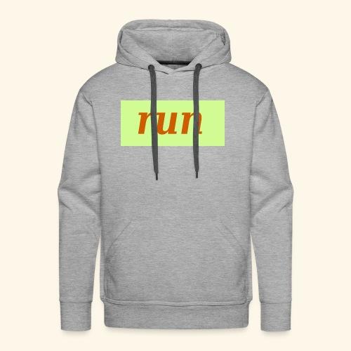 run - Männer Premium Hoodie