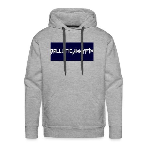 BallisticJimmyFTW Labelled Rectange White - Men's Premium Hoodie