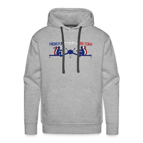 French Indoor Rowers Team - Sweat-shirt à capuche Premium pour hommes