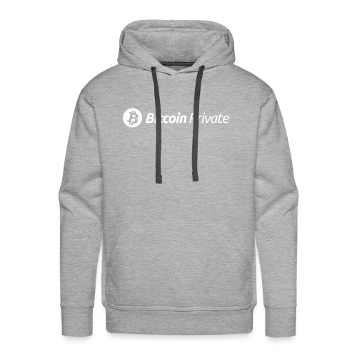 Bitcoin Private Logo White - Men's Premium Hoodie