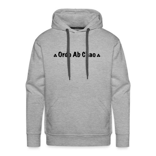 ordo ab chao - Sweat-shirt à capuche Premium pour hommes