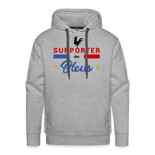 SUPPORTER DES BLEUS - Sweat-shirt à capuche Premium pour hommes