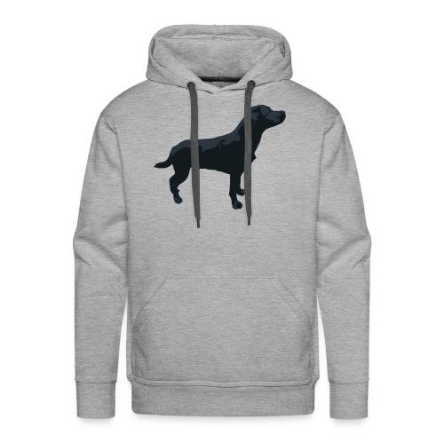 Labrador Hund stehend - ganzes Profil Seite - Männer Premium Hoodie