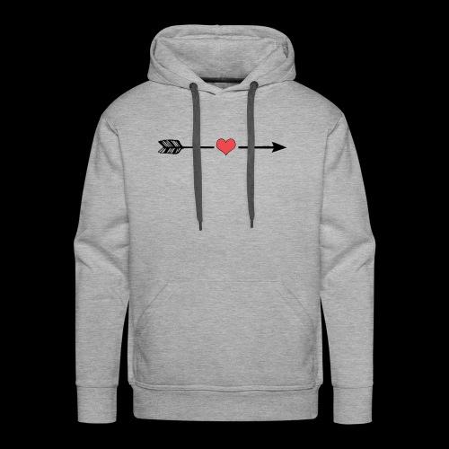 Love Arrow, Pfeil Liebe minimalistic - Männer Premium Hoodie