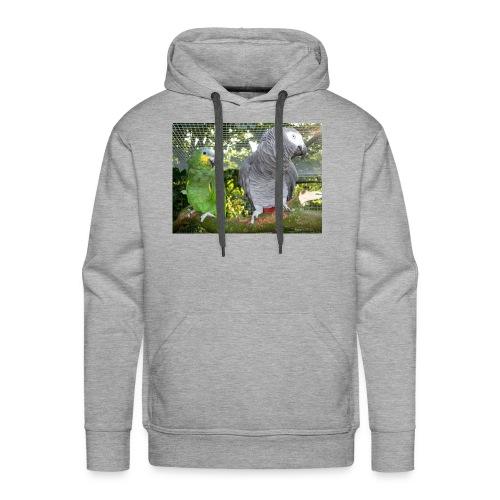 Amazone og grå - Herre Premium hættetrøje