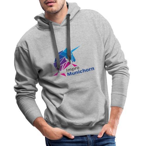 ImproMunichorn Logo farbig - Männer Premium Hoodie