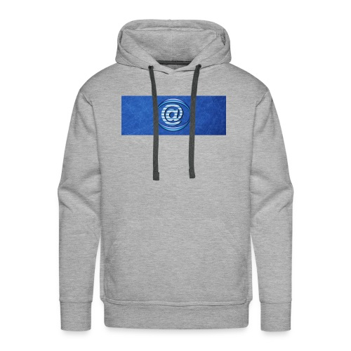 At Sign Dark Blue - Mannen Premium hoodie