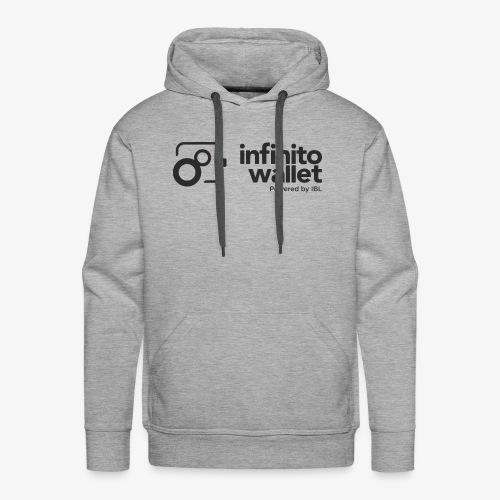 infinito wallet - logo black - Männer Premium Hoodie