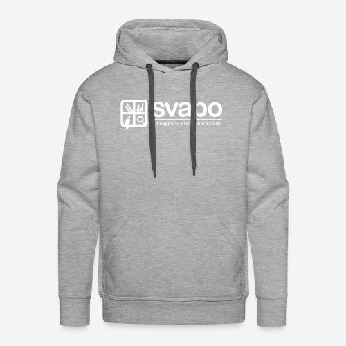 Logo Svapo Bianco - Felpa con cappuccio premium da uomo
