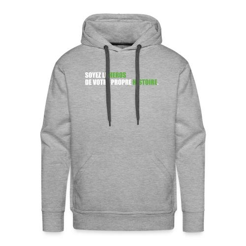 Soyez le héros - Sweat-shirt à capuche Premium pour hommes