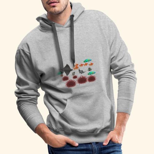 Les raies - Sweat-shirt à capuche Premium pour hommes