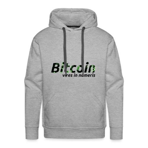 Bitcoin Matrix: Vires in numeris(Bitcoin Geschenk) - Männer Premium Hoodie
