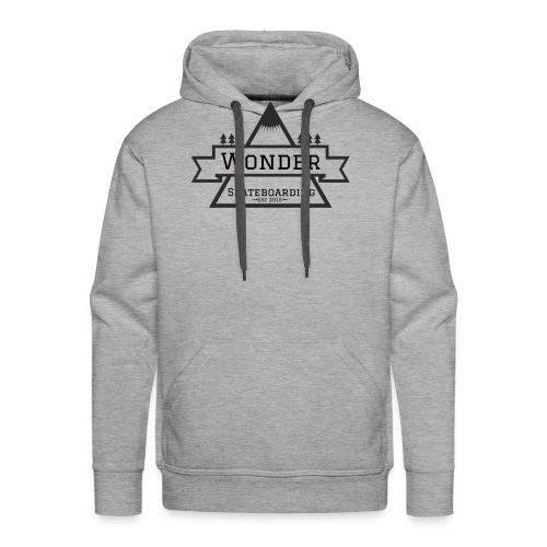 Wonder hoodie no hat - Mountain logo - Herre Premium hættetrøje