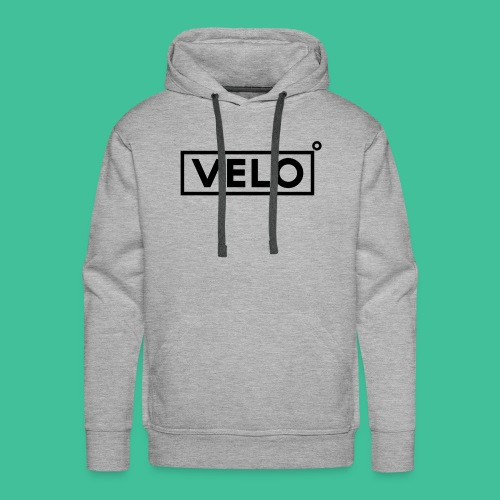 Velo Icon Blk - Long Sleeve Baseball Shirt W/N Clr - Men's Premium Hoodie