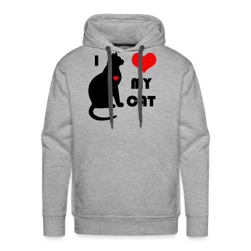 I love my cat - Sweat-shirt à capuche Premium pour hommes