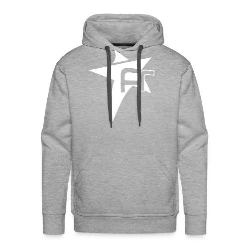 logoFR blanc - Sweat-shirt à capuche Premium pour hommes