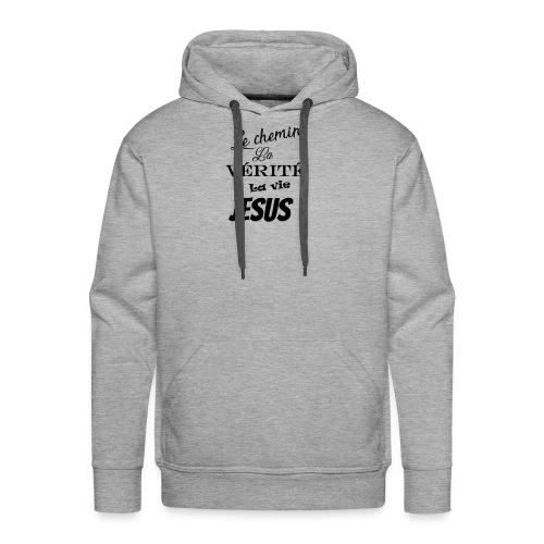 le chemin la vérité la vie jésus - Sweat-shirt à capuche Premium pour hommes