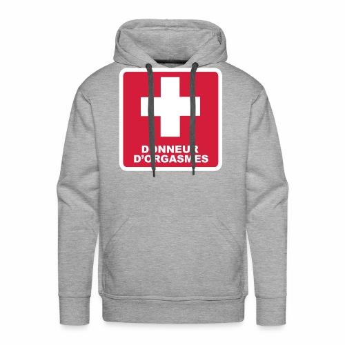 Donneur d'orgasmes - Sweat-shirt à capuche Premium pour hommes