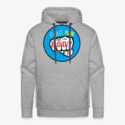logo fyb bleu ciel - Sweat-shirt à capuche Premium pour hommes