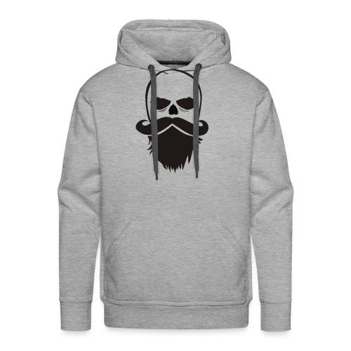 Bartträger Motiv, Scull mit Mustache, Bart-Shirt - Männer Premium Hoodie