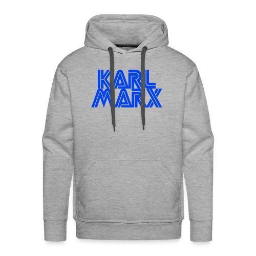 Karl Marx Logo - Felpa con cappuccio premium da uomo