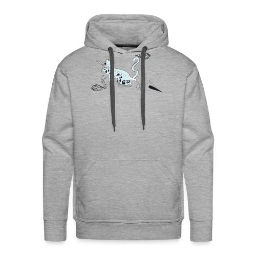 chat de al brume 02 - Sweat-shirt à capuche Premium pour hommes