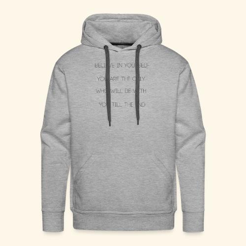 BELIVE IN YOURSELF | Black Edition - Sudadera con capucha premium para hombre