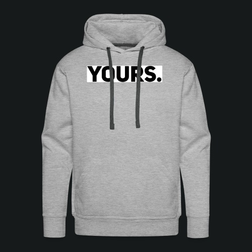 ZWART YOURS. SWEATER MAN - Mannen Premium hoodie