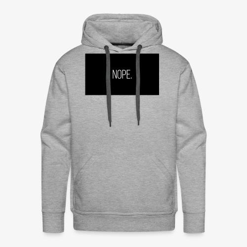 NOPE. merch - Men's Premium Hoodie