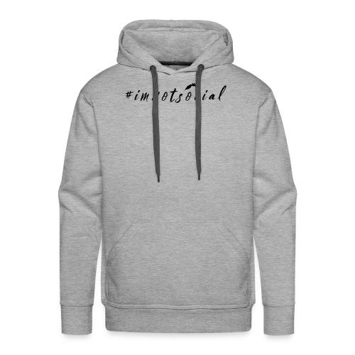 #imnotsocial logo - Felpa con cappuccio premium da uomo