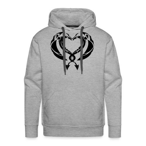 DragonCoeur - Sweat-shirt à capuche Premium pour hommes