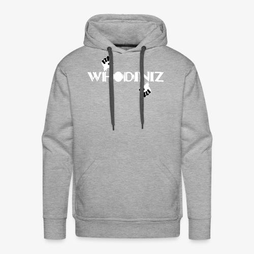 Whodiniz White Black - Men's Premium Hoodie