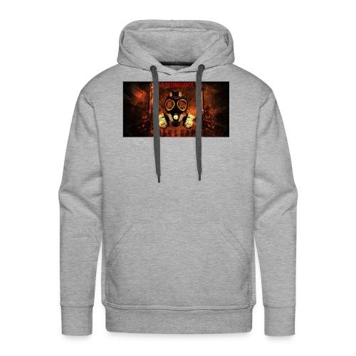 La Delinquance  Gun Masque A Gaz  Fond Flamme - Sweat-shirt à capuche Premium pour hommes