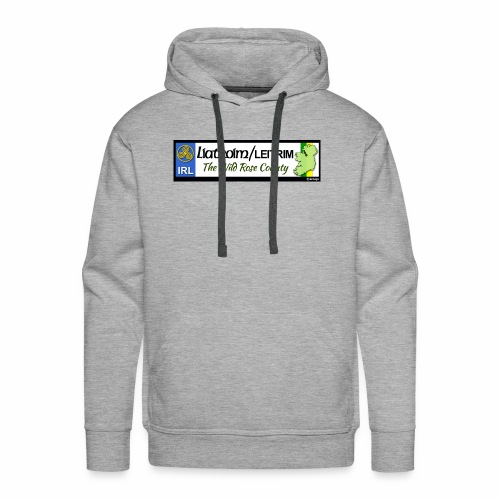LEITRIM, IRELAND: licence plate tag style decal eu - Men's Premium Hoodie